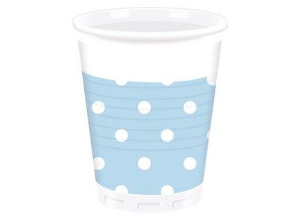 Bodkované poháre - svetlo modré 10 ks