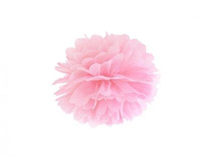 Pompom v tvare svetlo ružového kvetu 25 cm