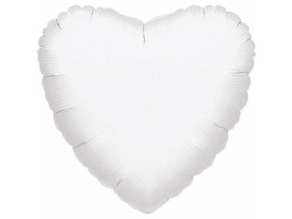 Fóliový balónik srdiečko biele