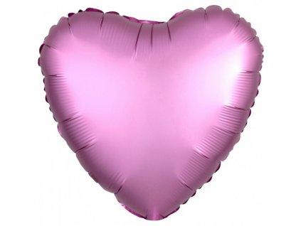 Fóliový balón Srdce - Flamingo 43 cm