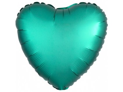 Fóliový balón Srdce - Tyrkysové 43 cm