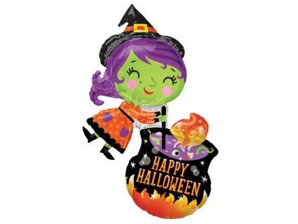 Čarodejnica & kotlík - Halloween
