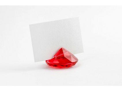 Držiak na menovky Diamant červený