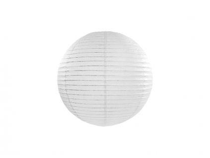 Okrúhly papierový lampión biely 20 cm