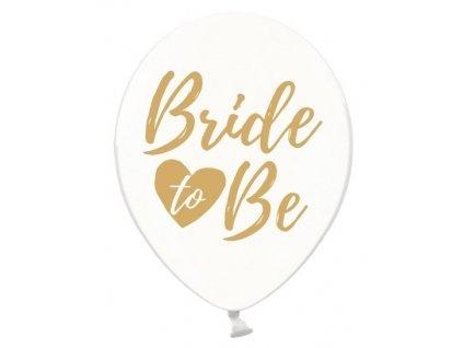 Balónik - Priesvitný so zlatým nápisom Bride to Be