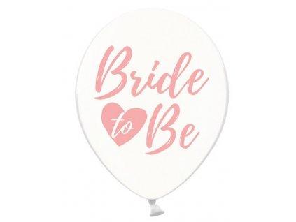 Balónik - Priesvitný s ružovým nápisom Bride to Be