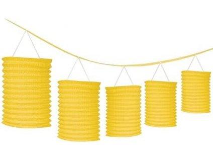 Girlanda s lampiónmi - žltá 365 cm