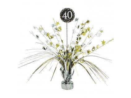 Dekorácia na stôl 40.narodeniny - Trblietavá zlatá 45,7 cm