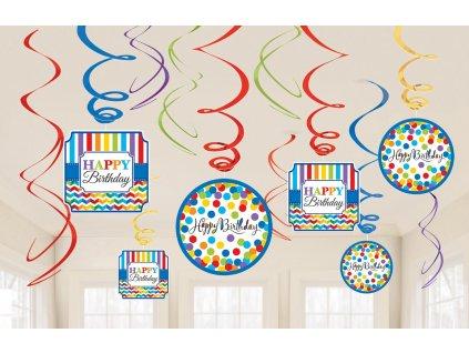Dekorácia Víry Farebné narodeniny