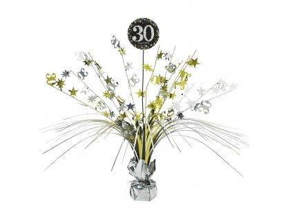 Dekorácia na stôl 30.narodeniny - Trblietavá zlatá 45,7 cm