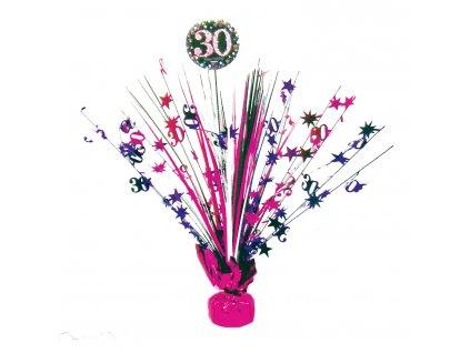 Dekorácia na oslavu - trblietavé 30. narodeniny (ružová)