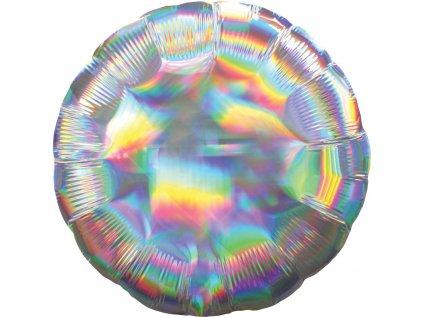 Fóliový balón - Holografický strieborný Kruh