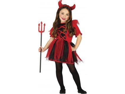 Detský kostým Malej Diablice (Veľkosti 10-12 rokov (výška 142-148cm))