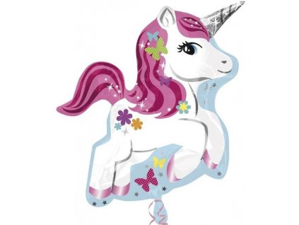 unicorn super shape foil balloon 58 cm 24775