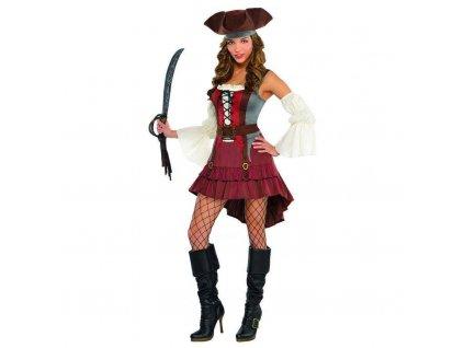Dámsky kostým - Príťažlivá pirátka (Veľkosť - Dospelí S)