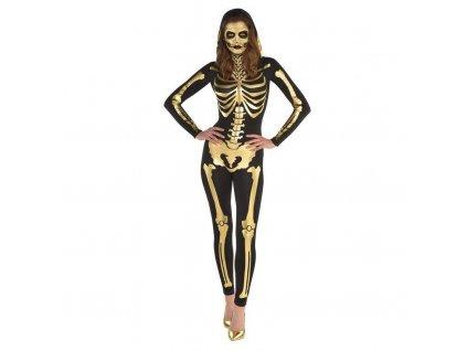 Dámsky kostým - Zlatá kostra (Veľkosť - Dospelí L)
