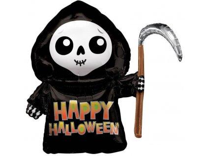 Fóliový balón - Smrtka Happy Halloween