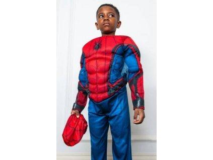 Rubies Detsky kostym Svalnaty Spiderman deluxe modry Velikost deti S