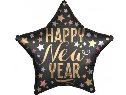 38942 foliovy balon hviezda happy new year