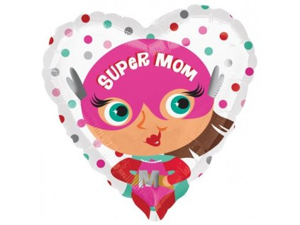 39116 foliovy balon srdiecko super mama