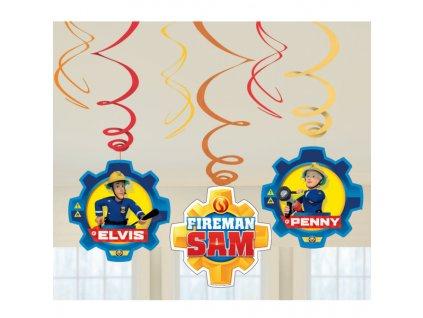 Dekorácia Víry - Požiarnik Sam 6 ks