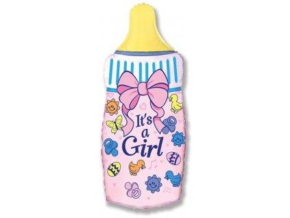 Fóliový balón Fľaša Je to dievča