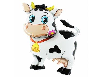 2pcs lot cartoon design cow anagram foil font b balloons b font helium float party font 420x420