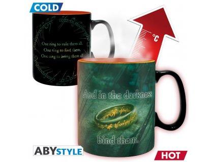 lord of the rings mug heat change 460 ml sauron boite x2