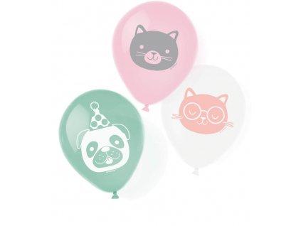 6 latexových balónov Hello Pets