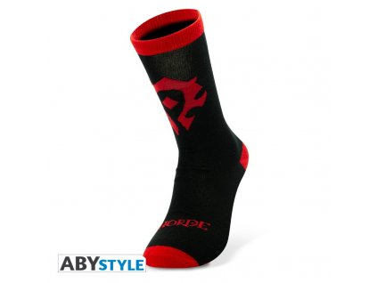 world of warcraft chaussettes noir rouge horde