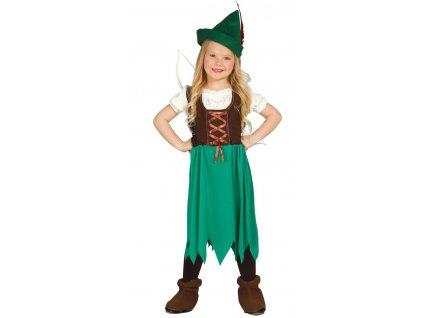 Dievčenský kostým - Robin Hood (Veľkosti 7-9 rokov (výška 127-132cm))