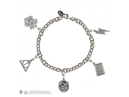 Čarovný náramok s piatimi príveskami - Harry Potter