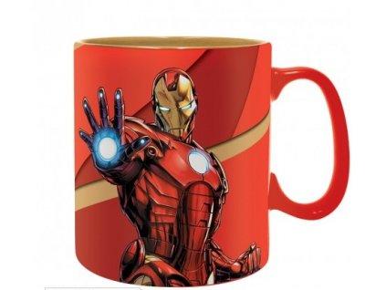 marvel mug 460 ml iron man armored box x2