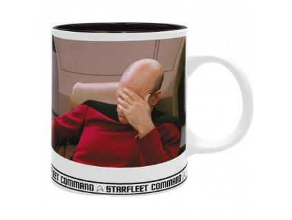 star trek mug 320 ml facepalm subli with box x2