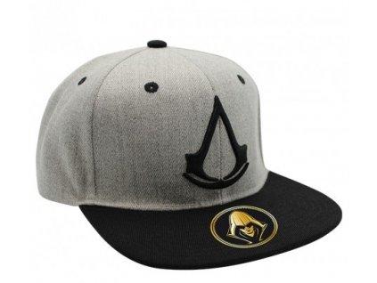 assassin s creed snapback cap grey crest