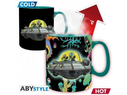 rick morty mug heat change 460 ml spaceship box x2