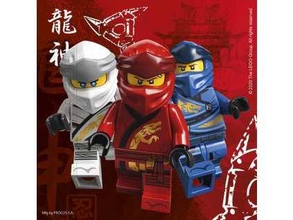 napkins lego ninjago 33x33cm 20 pieces
