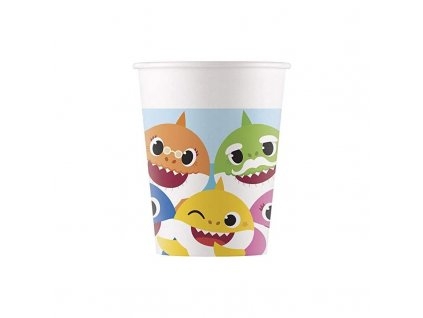 paper cups baby shark fun in the sun 200 ml pack of 8 cups
