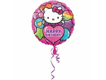 Foliový balón Happy Birthday - Hello Kitty 43 cm