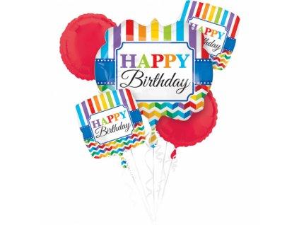 Kytica balónov Farebné narodeniny