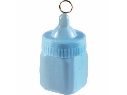 Závažie na balóny detská fľaša modrá