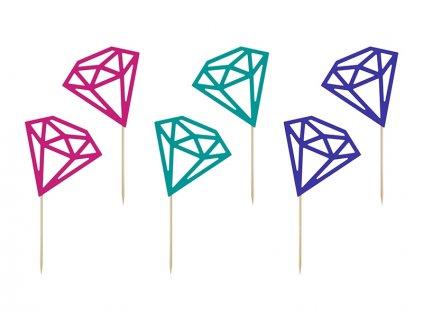 Ozdoby na cupcake - diamanty