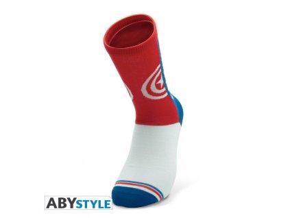 marvel socks blue red white captain america
