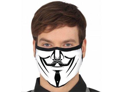 Ochranné rúško s motívom Anonymous 1 ks