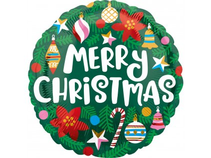 Fóliový balón - Vianoce Merry Christmas