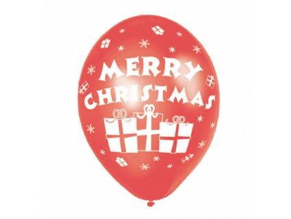 Balóny Merry Christmas 6 ks