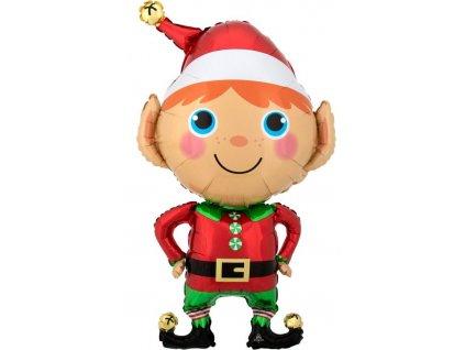 Fóliový balón vianočný Elf