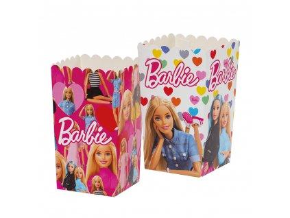Dekoratívne boxy pre popcorn - Barbie 6 ks
