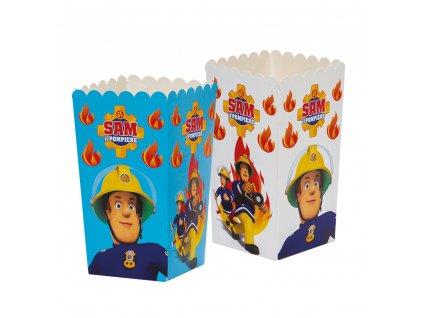 Dekoratívne boxy pre popcorn - Požiarnik Sam 6 ks