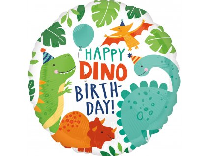 Fóliový balón Happy Dino Birthday